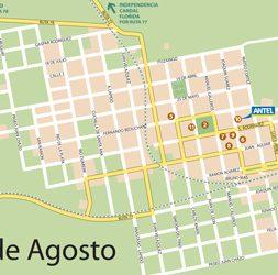 Mapa 25 de Agosto