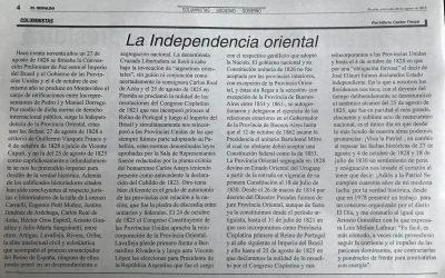 """""""La independencia Oriental"""" por Hilario Castro"""